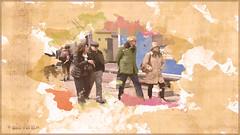 Two Couples (myphotomailbox) Tags: rotterdam netherlands blaak outdoor watercolor people walk waterpaint pse14 waterverf aquarel акварель catair acuarela aquarelle suluboya 水彩画 akwarela cétair akvarel akvarell acuarelă hydrochroma màunước जलरंगचित्रण dourliverezh akvarelli