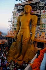 DSC_3123 (rajashekarhk) Tags: mahamastakabhisheka gomateshwara bahubali shravanabelogola karnataka southindia sky india religus colours culture rituals rajashekar yellow festival hkr monument jainism jains