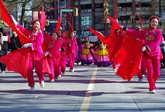In Red (petejam70) Tags: vancouvercanada chinesenewyear parade community colors performers dancers street sunny smiles awesome