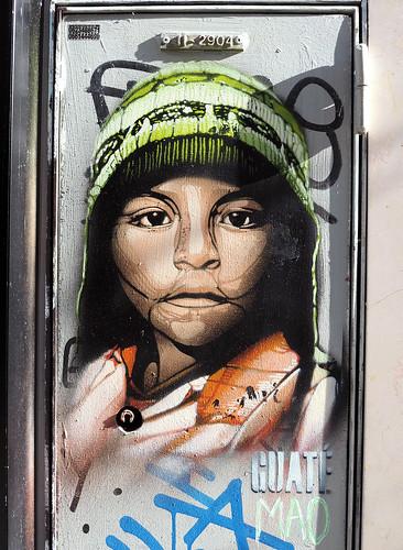 Stencil by Guaté Mao [Paris 2e]