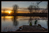 river_memories (NetAgra) Tags: sunburst youth sunset border water reflections children trees vikingpark march river wisconsin dog stoughton danecounty frame puppy yaharariver