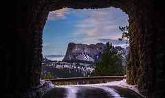 Tunnel Vision (Paul Domsten) Tags: mtrushmore blackhills sky tunnel mountain pentax southdakota snow ironmountainroad