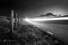 The road (L. Bartha) Tags: road longexposure bw light lines landscape