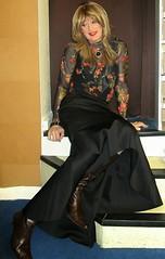 Private Thoughts :-) (Amber :-)) Tags: long black mermaid skirt tghirl transvestite crossdressing