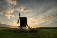 Pitstone sunrise (grbush) Tags: pitstonewindmill pitstone windmill sunrise sun dawn daybreak sunburst sky clouds goldenhour rural countryside england chilterns buckinghamshire postmill sonyslta77 samyang14mmf28ifedumc farming sunshine