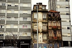 Just survive somehow... (catarinae) Tags: just survive somehow jss quote walking dead series building old modern windows porto portugal story travel foreign street city life gross subtle impermanence