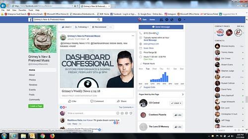 Dashboard Confessional fan photo