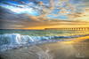 Give and Take (donna.chiofolo (off and on)) Tags: nature love colors beauty sand clouds bridge navarre florida warm peace atmosphere mood moodphotography balance composition beachlife travel dramatic light movement catchoftheday poetry wordsmatter