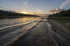 waves on Buckham's Bay (Barbara A. White) Tags: buckhamsbay summer 2016 sunset waves ottawariver shoreline landscape riverscape
