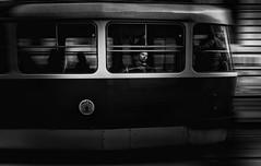GOODBYE BOY !!! (oskarRLS) Tags: boy street goodbye trolleycar tranvía city ciudad trip monochrome monocromo bw chico photographic