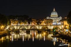 San Pietro by night (Cla.83) Tags: roma rome sanpietro capital church basilica cittàdelvaticano tevere