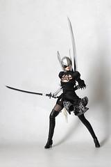 YoRHa 2B Valkyrie (TKatagiri) Tags: superduck 2b nier automata 16 figurine gothic lolita valkyrie thore helmet black cosplay set15 onesixth phicen review yorha no2 typeb tbleague odin valhalla asgard norse