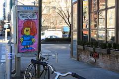 abe lincoln jr. (Luna Park) Tags: abelincolnjr ny nyc newyork manhattan adtakeover phonebooth lunapark