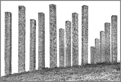 Portishead Formations (tramsteer) Tags: tramsteer sculpture art grass portishead bristol somerset sky monochrome blackwhite