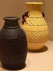 1-7 Bamboo Art at The Met (MsSusanB) Tags: edo meiji basket vase eiraku hozen bamboo metropolitan museumofart metmuseum japan sculpture