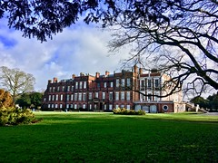 Croxteth Hall (Claire Louise Beyga) Tags: greenery bush frame tree victorian fresh sunshine breezy winter outdoors outside daytime shot cameraphone iphone5se iphone5 iphone landscape iconic vintage green blue clouds sun dogwalk hall house old walks day first 1st february 1218 heritage croxtethhallandcountrypark park croxteth liverpool