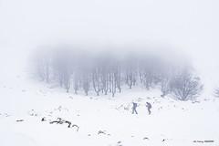 De Arraba hacia Egiriñao (Jabi Artaraz) Tags: jabiartaraz jartaraz zb euskoflickr arraba egiriñao gorbea montaña nieve winter invierno negua elurra nature