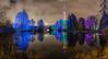 Winterlichter (WiSch | Foto) Tags: wischfoto nachtaufnahmen orte panorama mannheim winterleuchten luisenpark funkturm beleuchtung städte licht night nacht park garten