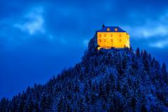 Burg Strechau (CHCaptures) Tags: austria burgstrechau forest sel70200g steiermark strechau styria wald winter a7ii bluehour castle hills ilce7ii longexpusure mountain night sony österreich at