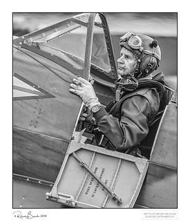 After the battle - weary Spitfire pilot