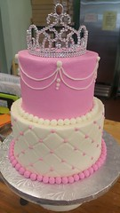 princess (2) (backhomebakerytx) Tags: kid birthday cake princess quilt two tier cute pretty pink backhomebakery