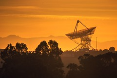 Is there anybody up there? (PeterThoeny) Tags: paloalto california siliconvalley sanfranciscobay sanfranciscobayarea stanforddish satellitedish day sun sunrise sunset haze dawn morninghaze mist landscape tree forest outdoor sky cloud cloudy panorama sony a6000 sonya6000 tamron tamronsp150600mmf563 1xp raw photomatix hdr qualityhdr qualityhdrphotography fav200
