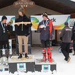 Sun Peaks Teck Open Event, January 4 to 7, 2018 - Men's Overall Slalom Podium