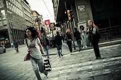 Run! Or don't. (damar47) Tags: streetstyle streetcolor streetphotography streetlife citycenter citylife bologna italy italia pentax pentaxart k30 run strangers colors urban sigma30mm14