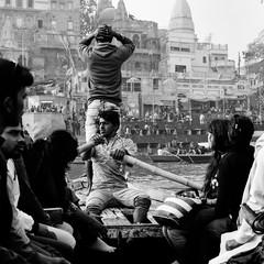 Varanasi, and the Ganges 004 (haribote) Tags: carlzeiss varanasi india cf100mmf35 hasselblad cityscape trix 503cw 400tx kodak uttarpradesh インド in