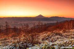 Amariyama  clouds  mt.fuji (koshichiba) Tags: fuji fujisan fujiyama amariyama peak yamanashi nirasakishi winter snow clouds orange hill kofu alps minami dawn morning frost fog dew