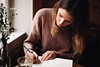 drawing in cafés (the girl who made it on her own) Tags: ronakeller rona lisa friends friendship café sattlerei sattlereistuttgart stuttgart germany drawing portrait spontaneousportrait portraitofafriend sketching drawingincafés warmtones winter january fujifilmx100f