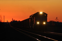 For Trainut (CC 8039) Tags: up trains sd70ace ac44cw sunset twilight rochelle illinois