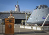 Captain talks to local media during a press conference on Naval Base San Diego. (Official U.S. Navy Imagery) Tags: esg3 ussanchoragelpd23 navalbasesandiego sandiego calif unitedstates
