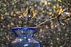 Spoon Flower (DoctorTimbo) Tags: redo52 spoon flower vase blue bokeh shiny ornament 2018 week3
