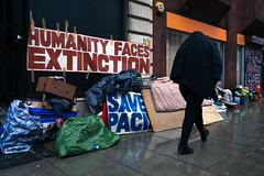 Extinction (stevedexteruk) Tags: humanity extinction warning pavement rubbish rain london uk city westminster fitzrovia greatportlandstreet street 2018 trash envornment