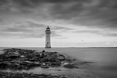 New Brighton Lighthouse (35/365) (Rachael Webster UK) Tags: newbrighton lighthouse blackandwhite bw wirral longexposure longexposurephotography merseyside mersey rivermersey