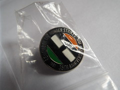 35th Anniversary 1981 hungerstrike badge (sean and nina) Tags: irish republican political politics metal enamel pin badges lapel sinn fein netwrok for unity provisional official real new ira inla onh army liberation national oglaigh na heireann ireland eire eireann commemorative socialist irsp remembrance collectable h blocks easter 1798 1981 hunger strike strikers graves association united irishmen