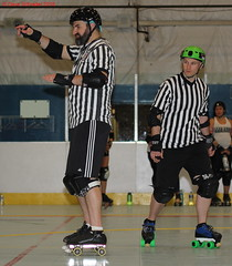 IMG_8796 crop 1 (KORfan) Tags: rollerderby barbedwirebetties cabinfeverscrimmage referees officials
