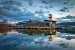 Tauchsieder (stauffi2012) Tags: jahrhunderthalle bochum blauestunde g1xmarkiii canon wasserkocher spiegelung industriekultur weitwinkel