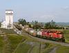 Parkbeg SK Saturday July 15th 2000 1150CST (Hoopy2342) Tags: train rail railway railroad elevator parkbeg saskatchewan sask canadianpacificrailway canadianpacific prairie