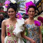 Thai People in Traditional Dress Waiting to Join the Chiang Mai Flower Festival Parade 174 thumbnail