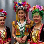 Thai People in Traditional Dress Waiting to Join the Chiang Mai Flower Festival Parade 165 thumbnail
