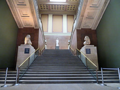 National Gallery, London, England (duaneschermerhorn) Tags: architecture building structure architect steps stairs stairway staircase banister statues statuary