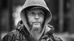 People of Madison (Caleb Tomplait) Tags: calebtomplait madisonwisconsin statestreet winter snow cold people portrait street photography sony sonya7riii sony70200f28gm black white homeless hair sharp lips red