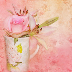 Pastel with Texture (Patlees) Tags: flowers pastel painted textured freestock