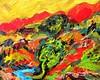 Fiery Landscape. (Steve.D.Hammond.) Tags: fiery landscape