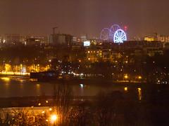 Ferris wheel through double-pane window (Raoul Pop) Tags: night city bucuresti bucurești municipiulbucurești romania ro