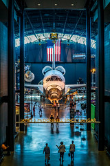 Space Shuttle Discovery - The James S. McDonnell Space Hangar (YL168) Tags: spacehangar spaceshuttle discovery nationalairandspacemuseum stevenfudvarhazycenter smithsonian washingtondc airandspacemuseum virginia sony airplane nasa space a6000