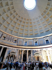 The Pantheon, Rome. Let there be light. (M McBey) Tags: pantheon rome dome temple church ancient concrete oculus