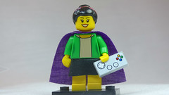 Brick Yourself Custom Lego Figure Super Hero School Teacher with Gamepad & Flowers in Hair